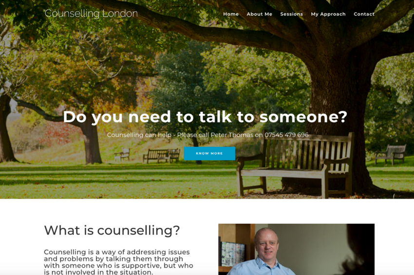 Counselling London - Peter Thomas