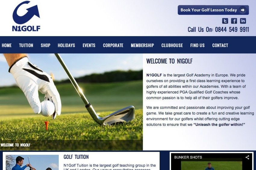 N1Golf - Golf Lessons in UK