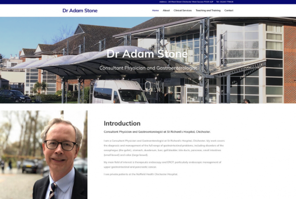 Consultant Physician and Gastroenterologist - Dr Adam Stone