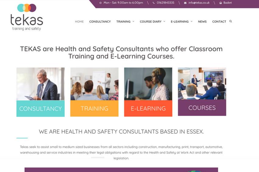Health And Safety Consultants Tekas Training The Web Surgery Web Design Uk Bespoke Website Design
