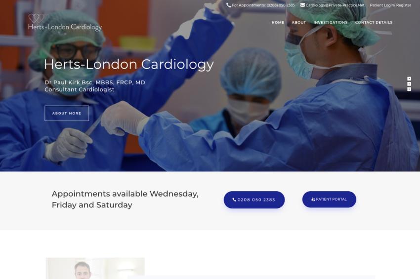 consultant cardiologist - Dr Paul Kirk