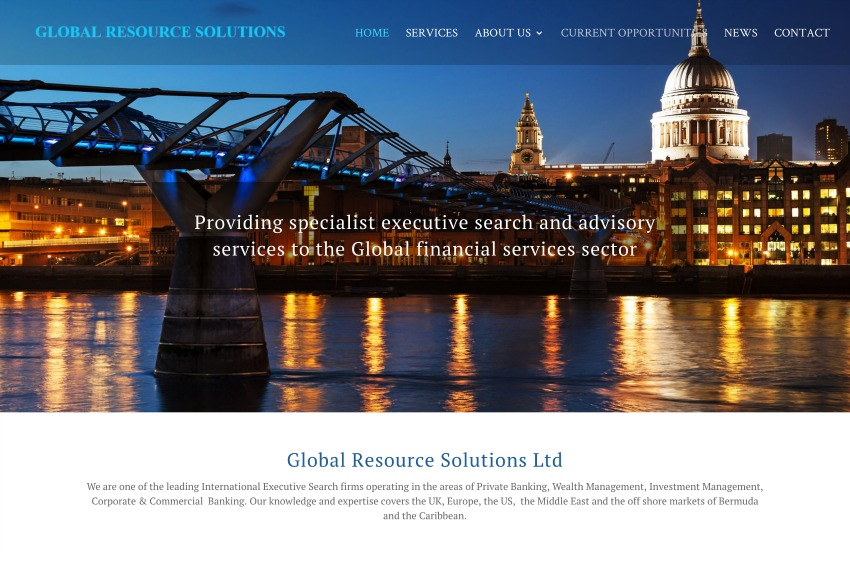 Global Resource Solutions - Executive search for the Global financial services sector