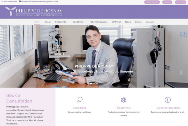 Consultant Gynaecologist - Mr Philippe de Rosnay
