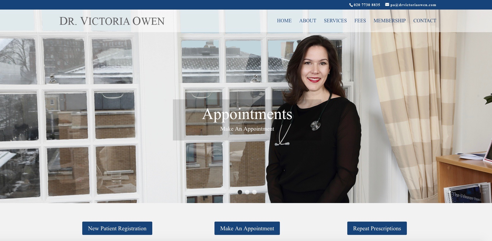 Dr. Victoria Owen is a private general practitioner