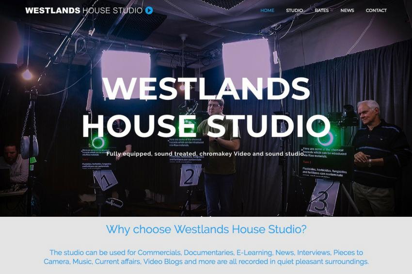 Video Recording Studio Web Design