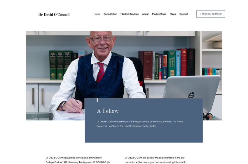 Private GP Dr David O'Connell launches new website