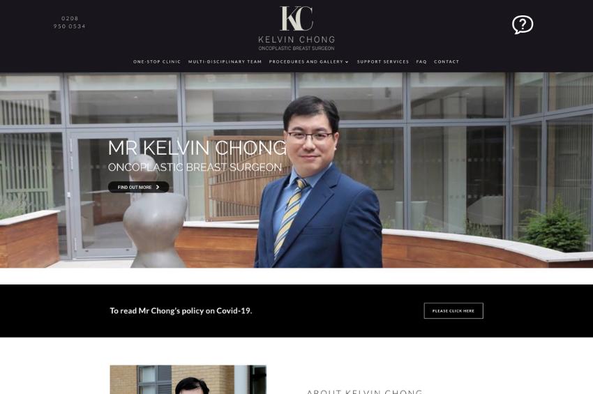 Mr Kelvin Chong - Oncoplastic Breast Surgeon