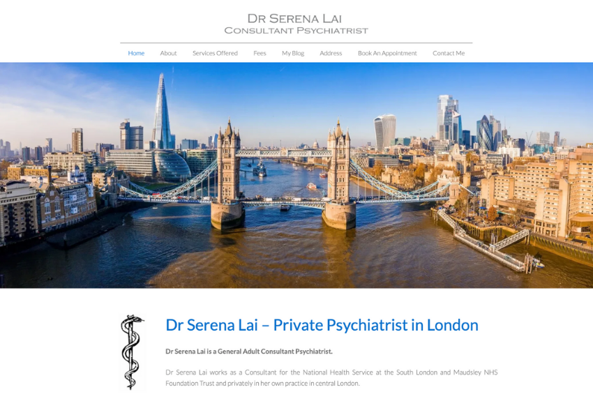 Dr Serena Lai - Consultant psychiatrist london