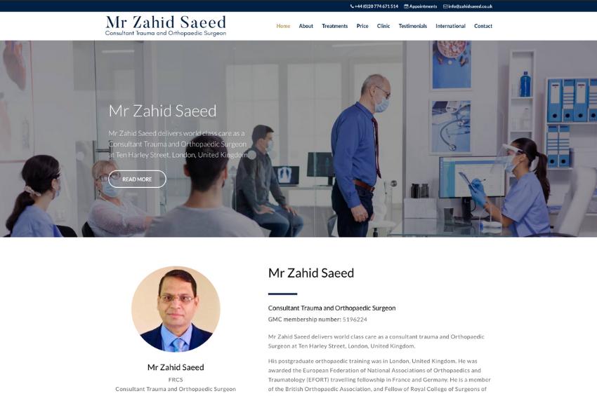 Mr Zahid Saeed - Consultant Trauma and Orthopaedic Surgeon