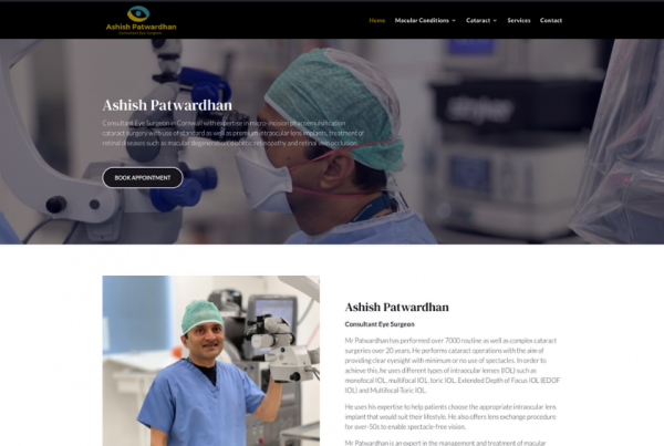 Consultant Eye Surgeon - Mr Ashish Patwardhan