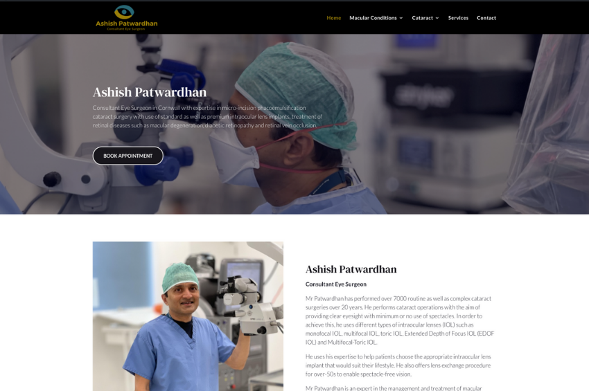 Consultant Eye Surgeon - Mr Ashish Patwardhan