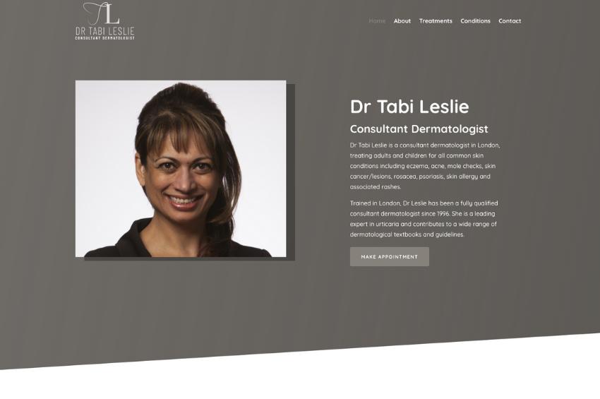 Website Design for Consultant Dermatologist