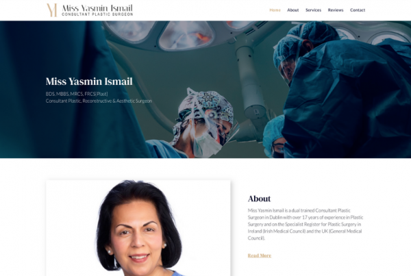 Consultant Plastic Surgeon - Miss Yasmin Ismail
