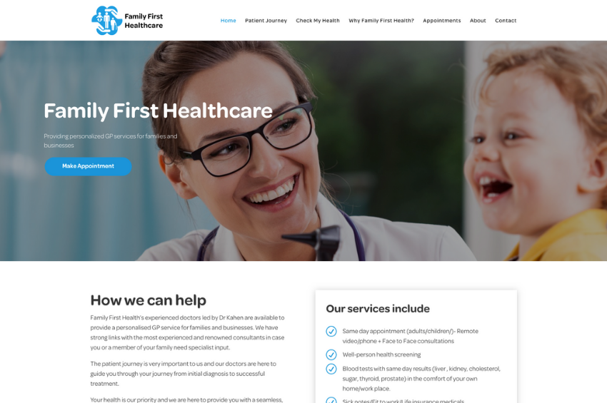 Family First Healthcare - Private Online GP Services