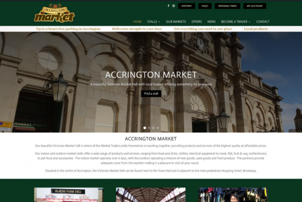 Accrington Market in Lancashire
