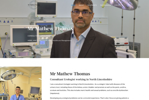 Mr Mathew Thomas - Consultant Urologist