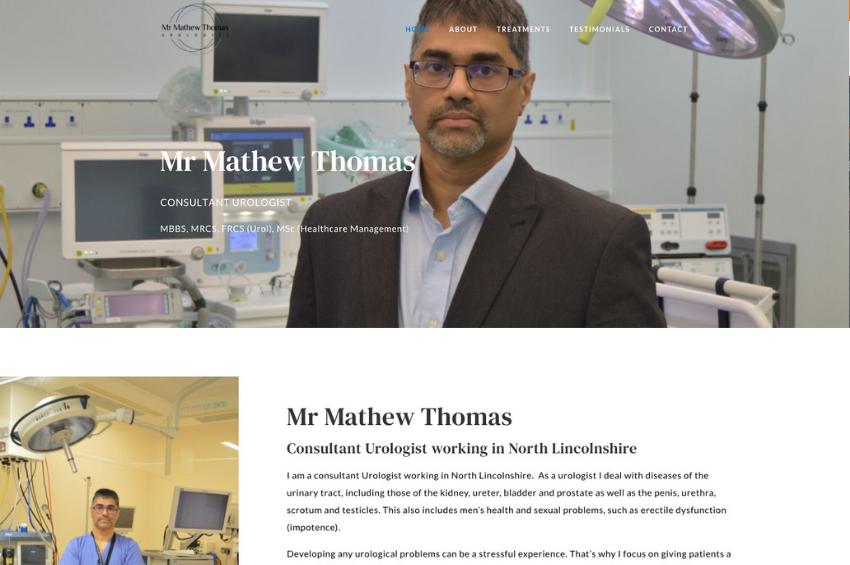 Mr Mathew Thomas - Consultant Urologist