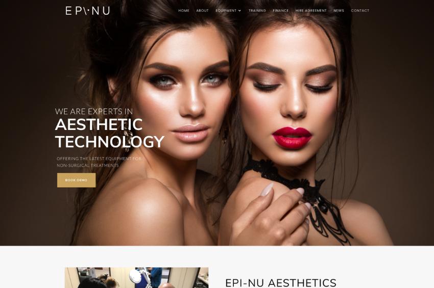 Aesthetics Website Design