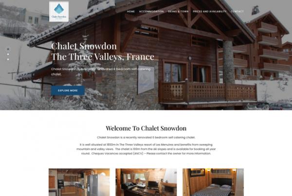 Ski Chalet Website Design