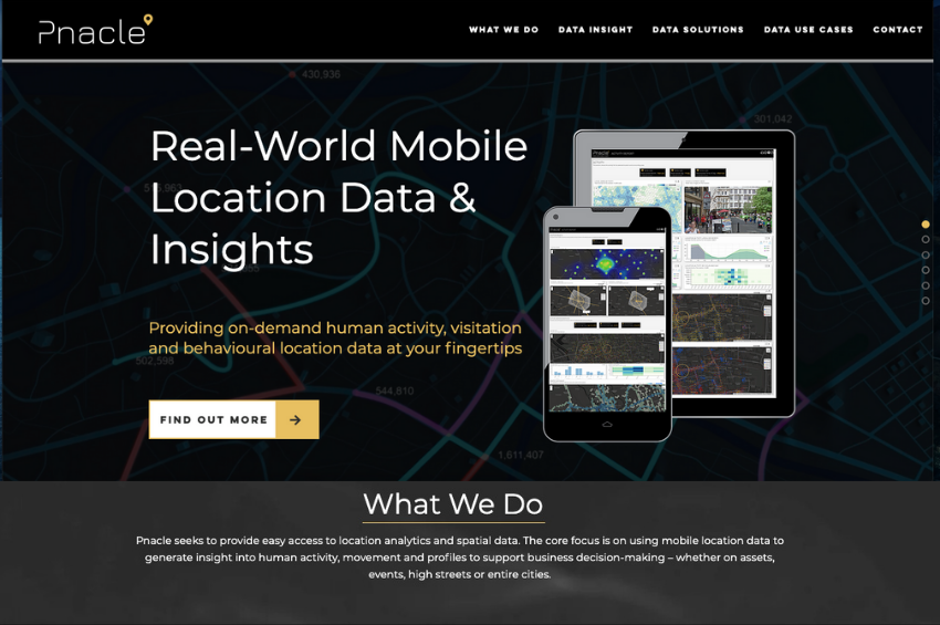 Mobile Location Data Website For Pnacle